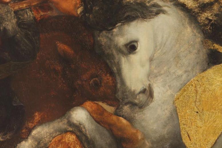Dettagli della Tavola Doria: gli sguardi dei cavalli