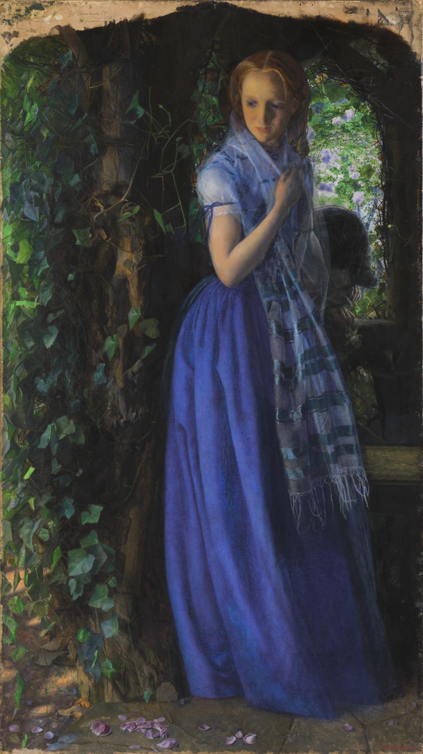 Arthur Hughes, Amore d'aprile (1855-1856; olio su tela, 88,9 x 49,5 cm; Londra, Tate Britain)