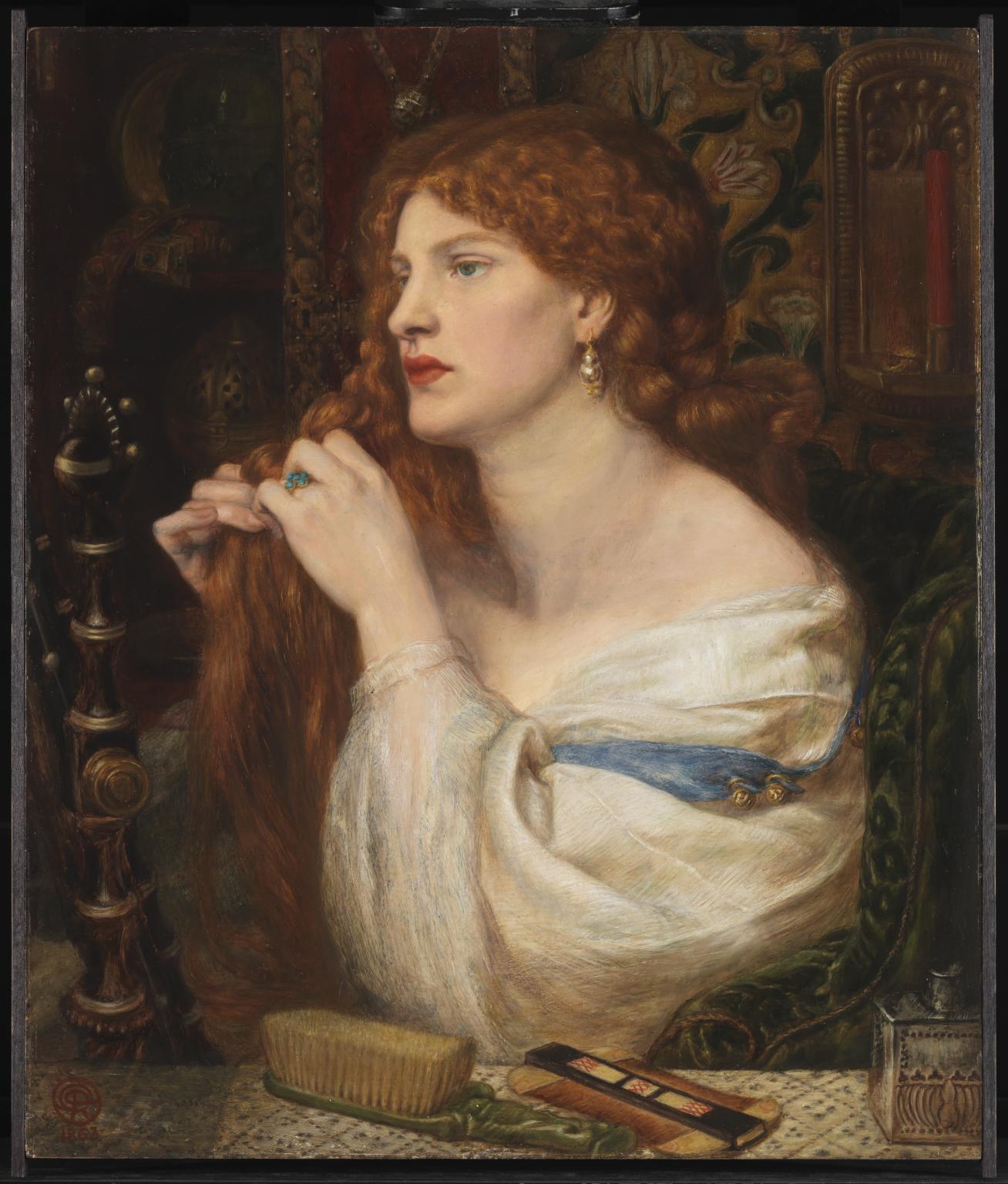 Dante Gabriel Rossetti, Aurelia (l'amante di Fazio) (1863-1873; olio su tavola, 43,2 x 36,8 cm; Londra, Tate Britain)