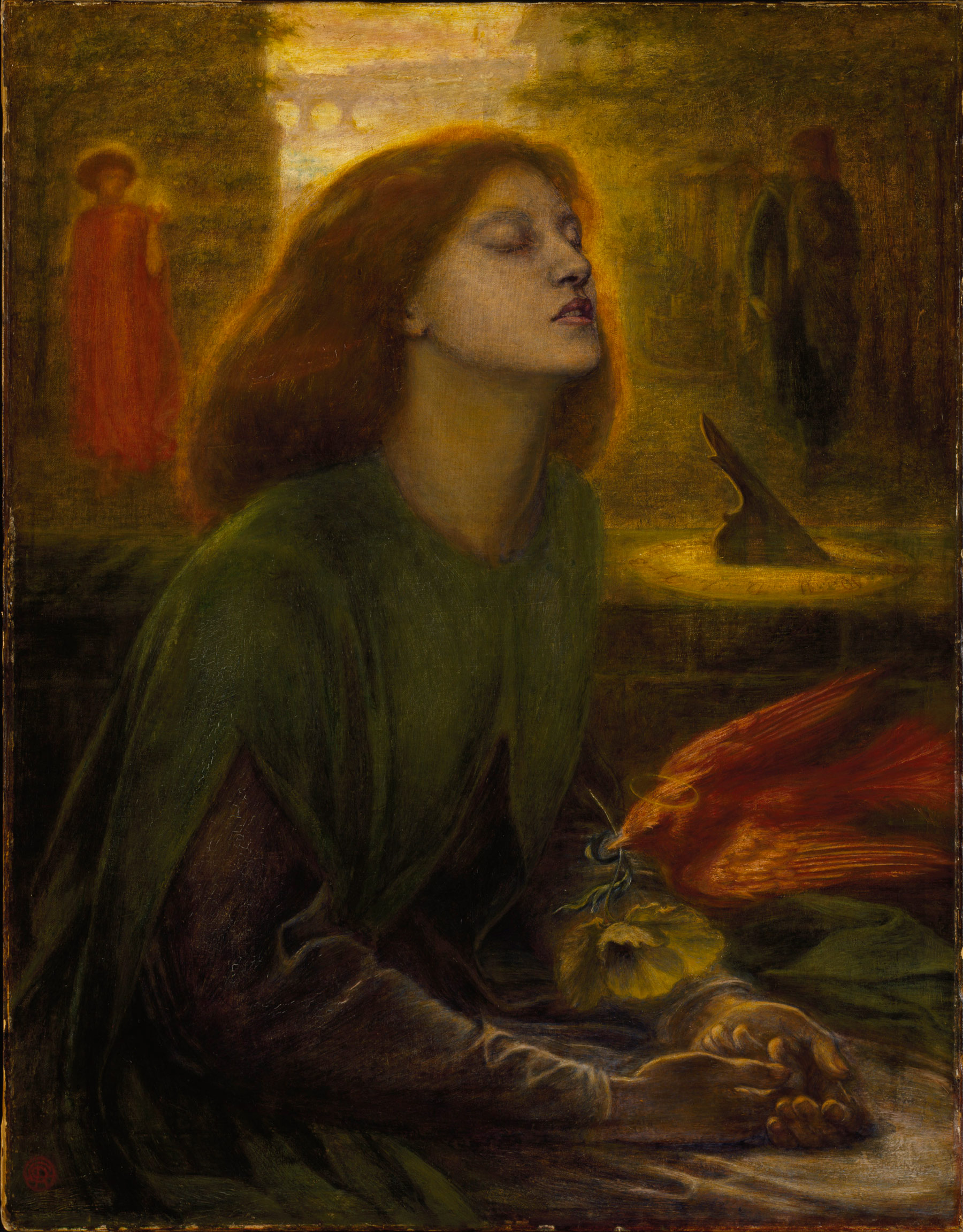 Dante Gabriel Rossetti, Beata Beatrix (1864-1870 circa; olio su tela, 86,4 x 66 cm; Londra, Tate Britain)
