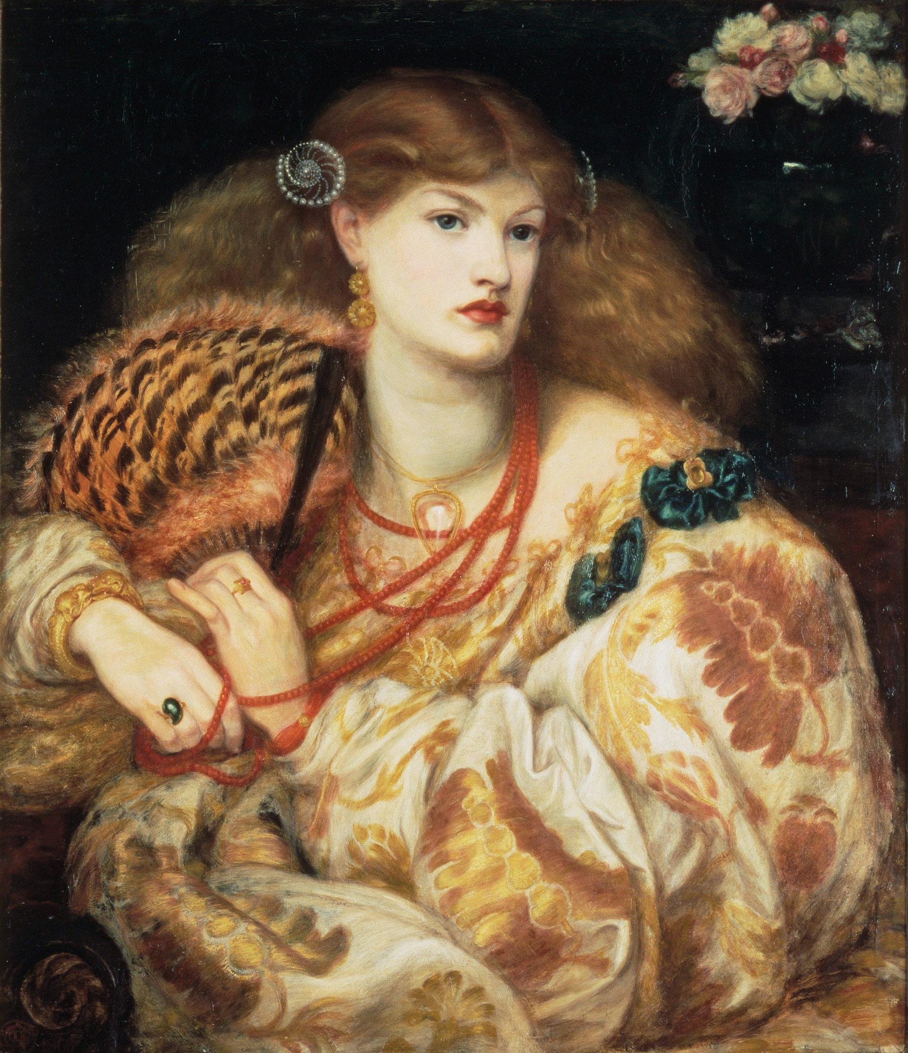 Dante Gabriel Rossetti, Monna Vanna (1866; olio su tela, 88,9 x 86,4 cm; Londra, Tate Britain)