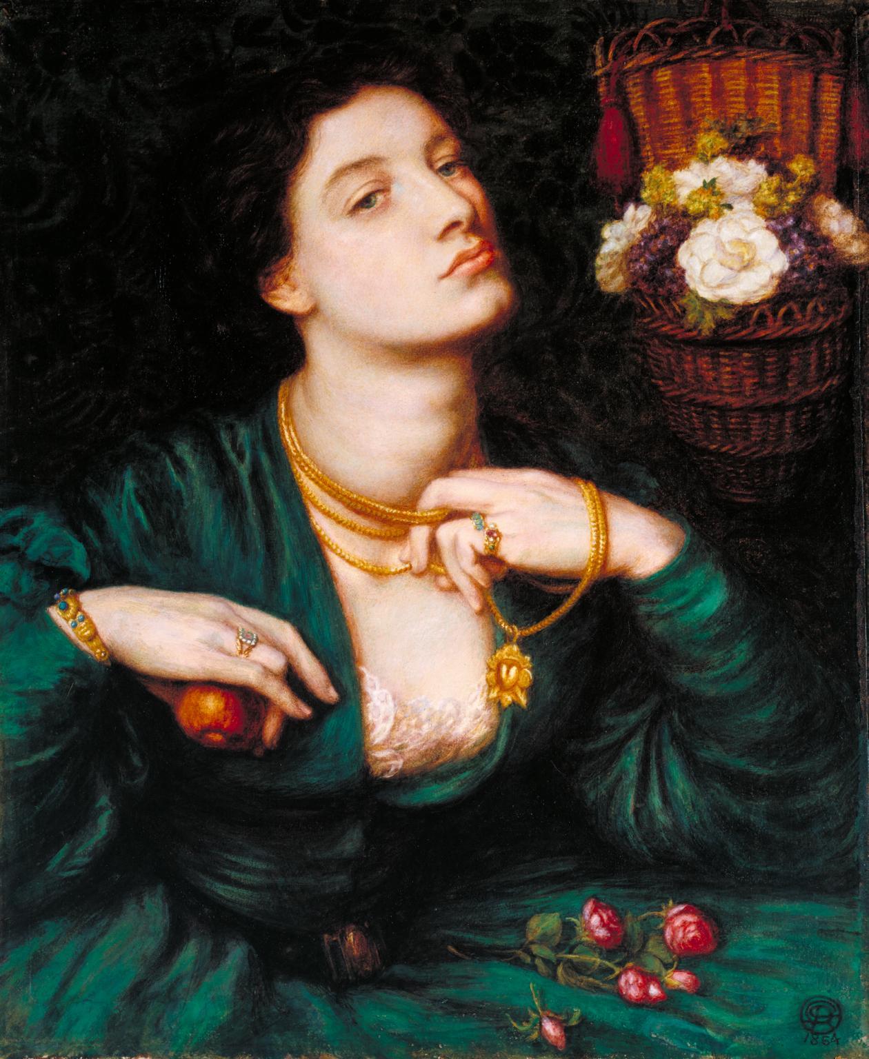 Dante Gabriel Rossetti, Monna Pomona (1864; acquerello e gomma arabica su carta, 47,6 x 39,3 cm; Londra, Tate Britain)