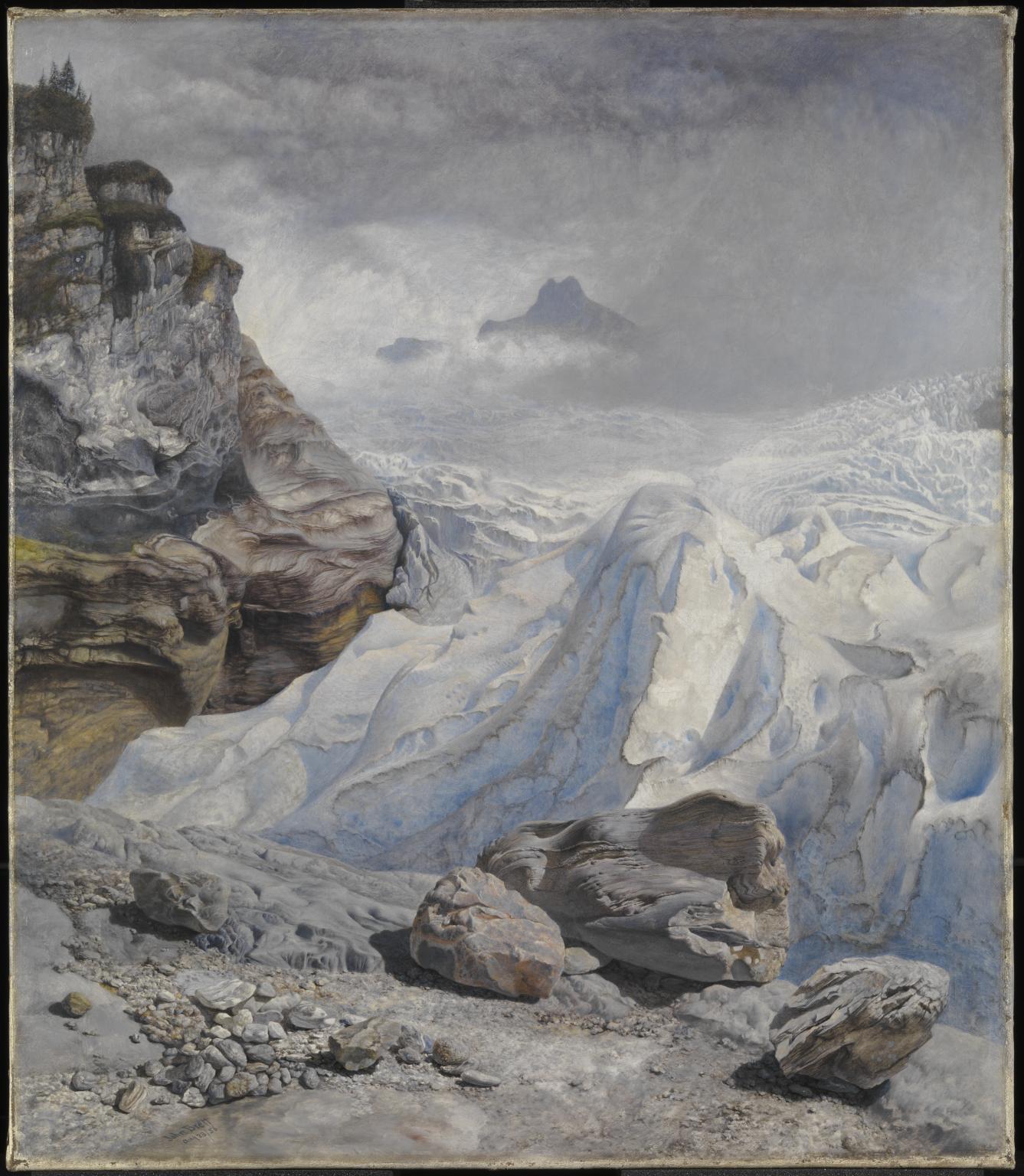 John Brett, Il ghiacciaio di Rosenlaui (1856; olio su tela, 44,5 x 41,9 cm; Londra, Tate Britain)