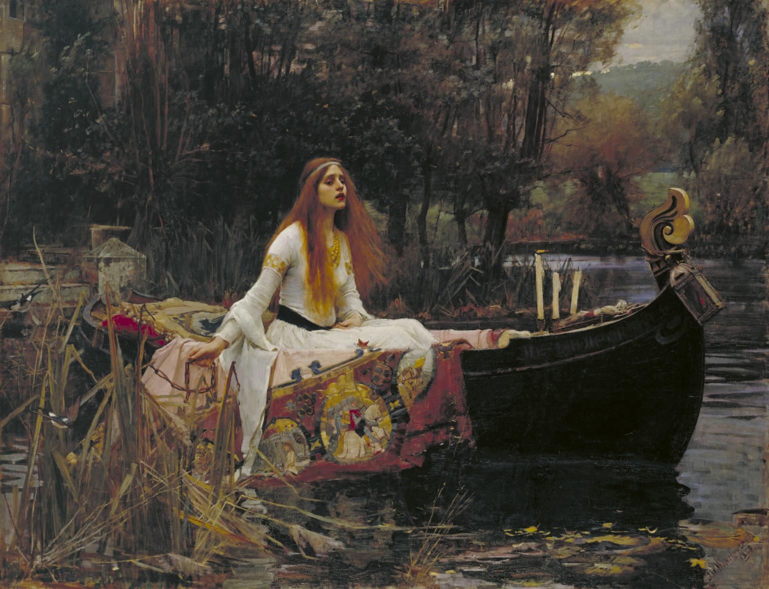 John William Waterhouse, La dama di Shalott (1888; olio su tela, 153 x 200 cm; Londra, Tate Britain)