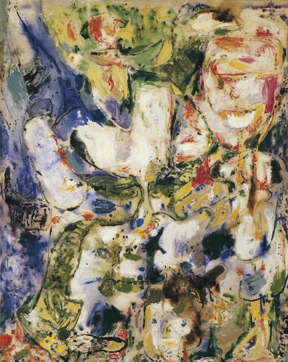 Asger Jorn, Senza titolo (1956–57; olio su tela, 141 x 110,1 cm; Venezia, Collezione Peggy Guggenheim) © Donation Jorn, Silkeborg, by SIAE 2019