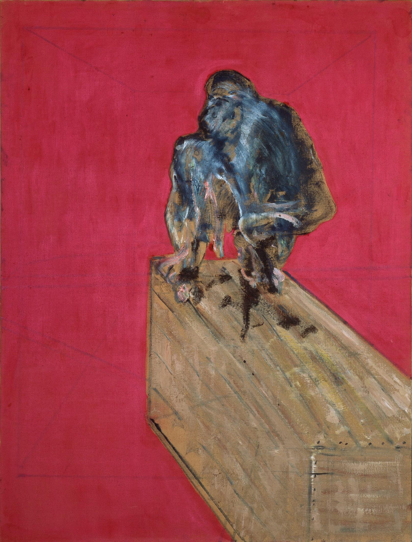 Francis Bacon, Studio per scimpanzé (marzo 1957; olio e pastello su tela, 152,4 x 117 cm; Venezia, Collezione Peggy Guggenheim) © The Estate of Francis Bacon. All rights reserved, by SIAE 2019