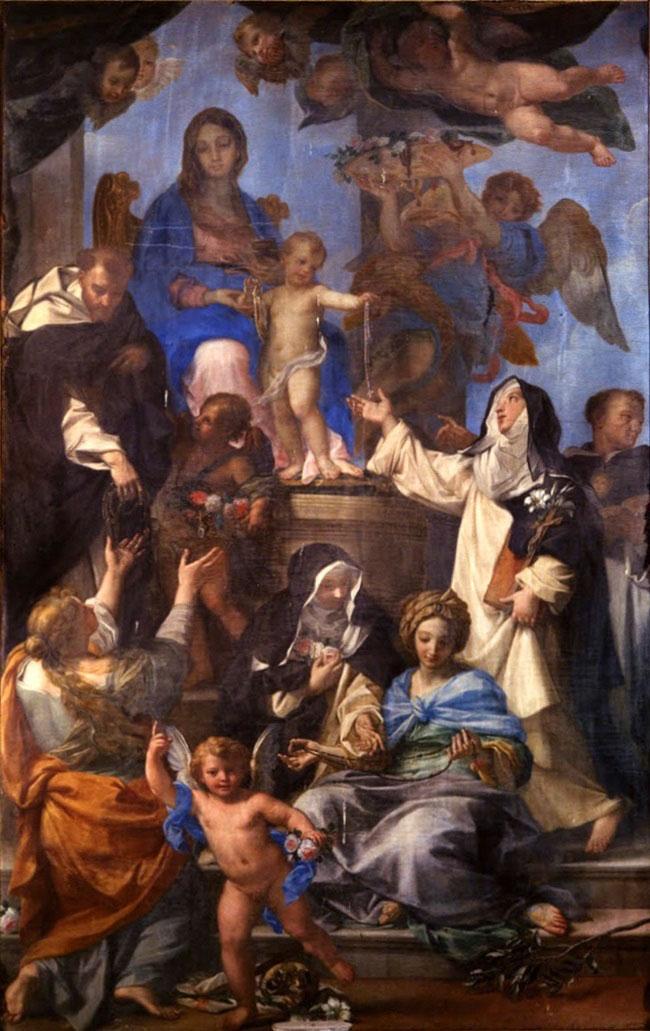 Carlo Maratta, Madonna del Rosario (1695; olio su tela; Palermo, Oratorio del Rosario in Santa Cita)
