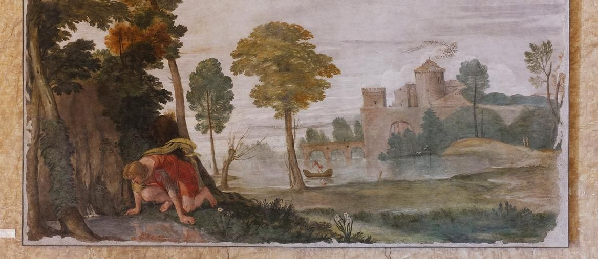 Domenichino, Narciso (1603-1604; affresto staccato, 143 x 267 cm; Roma, Palazzo Farnese)
