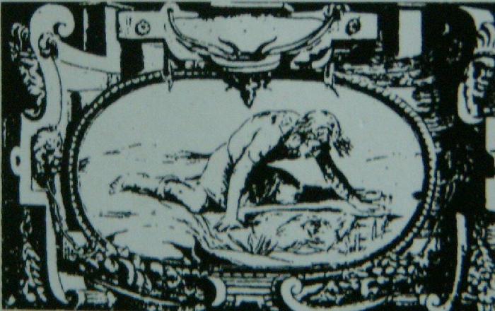 Tommaso Barlacchi, Narciso (1540-1550; incisione)