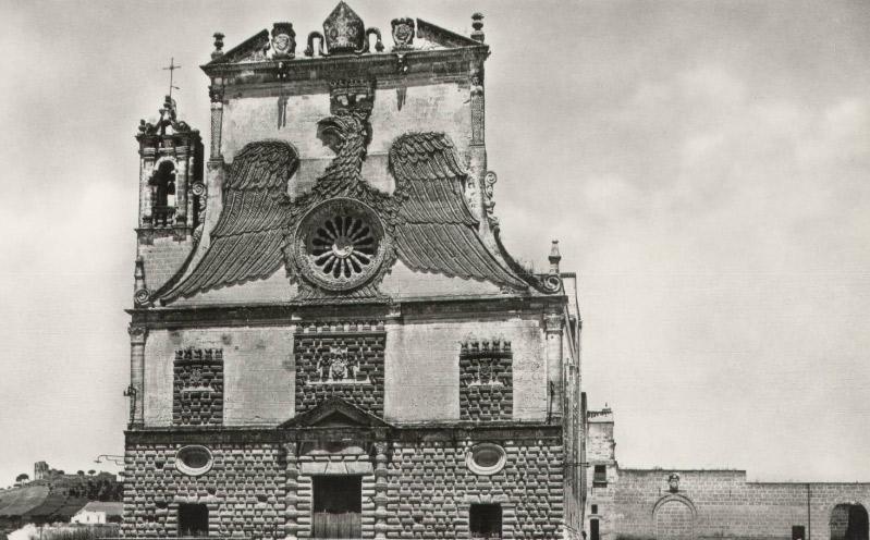 La facciata di Santa Maria della Grazia a Gravina in Puglia nel XIX secolo