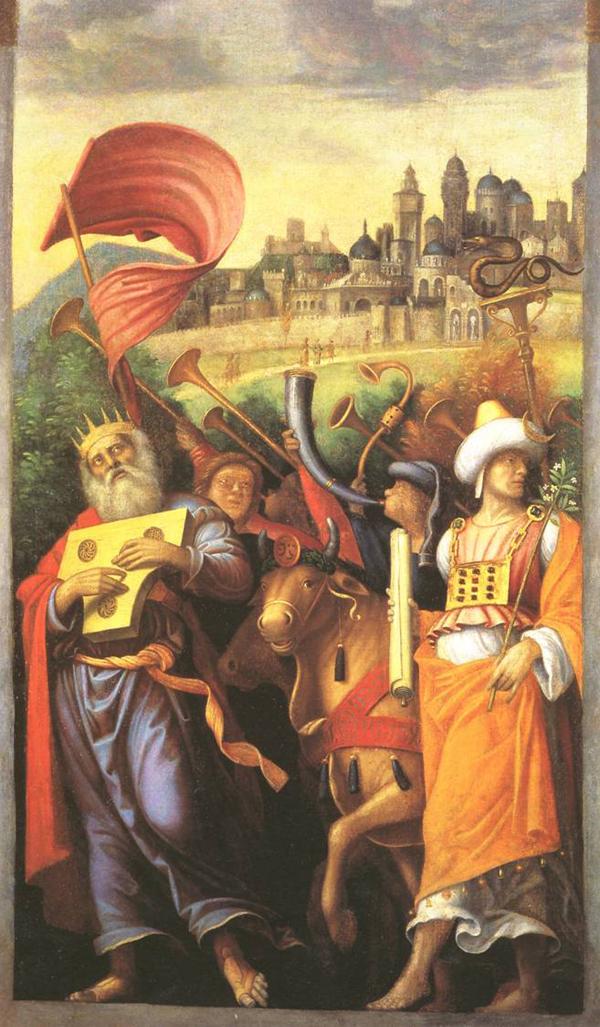 Correggio, David riporta l'Arca santa a Gerusalemme (1514-1515; olio su tela, 260 x 153,5 cm; Collezione privata)