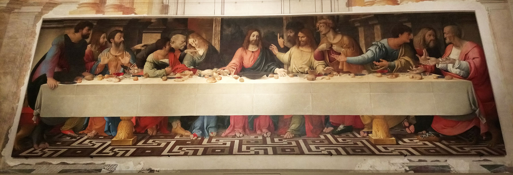 Girolamo Bonsignori, Ultima cena (1514 circa; olio su tela, 234 x 722 cm; Badia Polesine, Museo Civico)