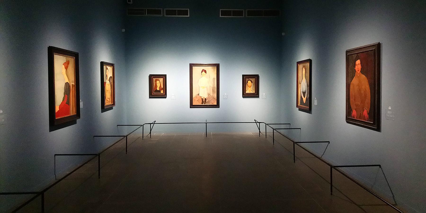Immagini dalla mostra Modigliani e l'avventura di Montparnasse. Capolavori dalle collezioni Netter e Alexandre