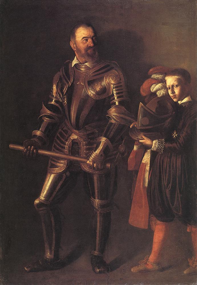 Caravaggio, Ritratto di Alof de Wignacourt (1607-1608; olio su tela, 195 x 134 cm; Parigi, Louvre)