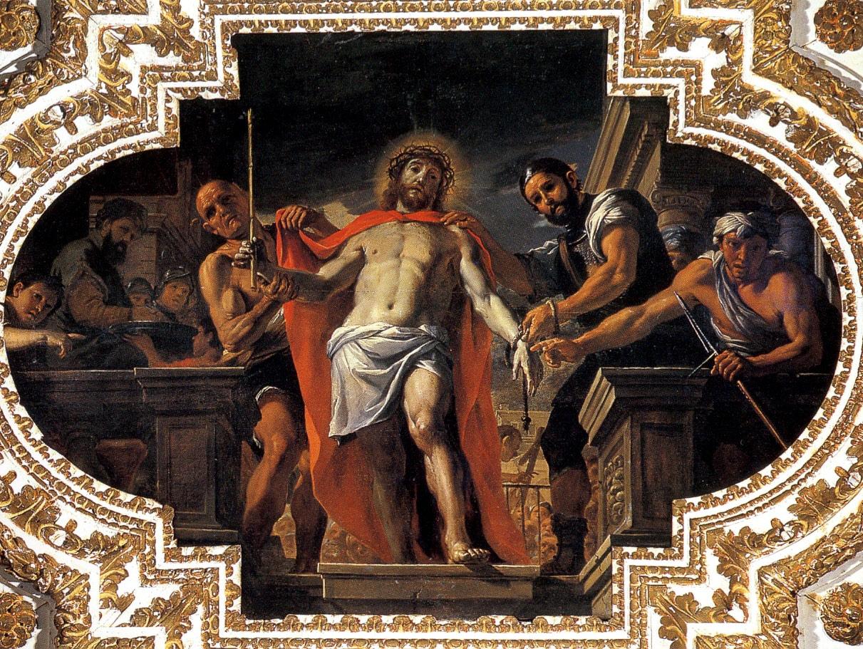 Mattia Preti, Ecce Homo (1679-1689; olio su tela, 227 x 350 cm; La Valletta, Oratorio di San Giovanni Decollato)