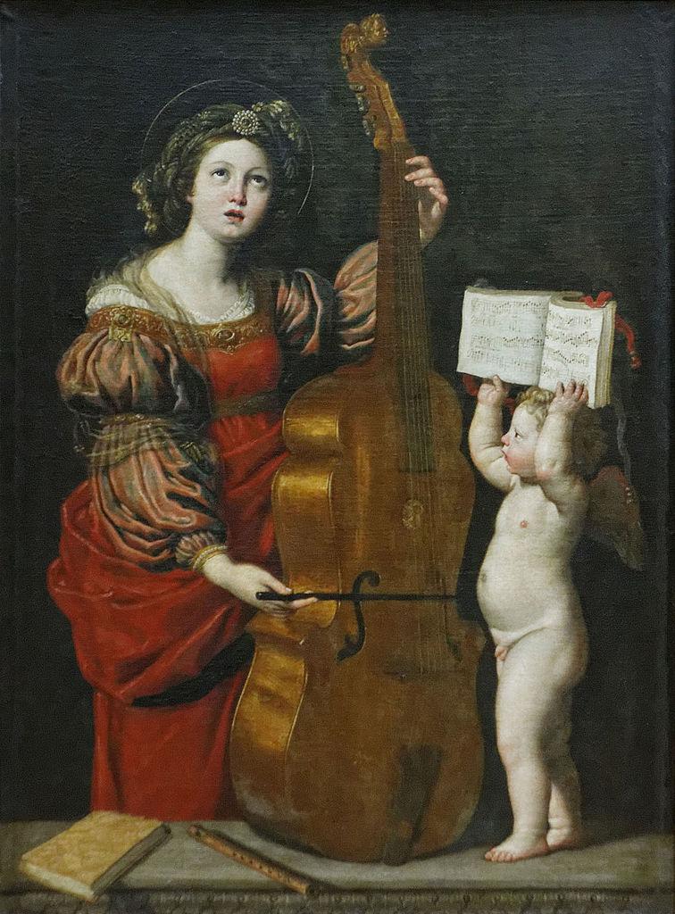 Domenichino, Santa Cecilia (1617 circa; olio su tela, 160 x 120 cm; Parigi, Louvre)