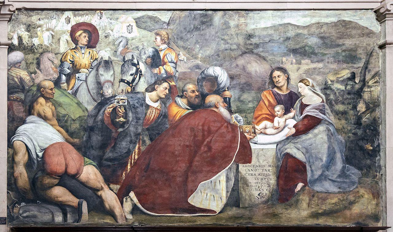 Giovanni Antonio de' Sacchis detto il Pordenone, Adorazione dei Magi (1520; affresco; Treviso, Duomo, Cappella Malchiostro)