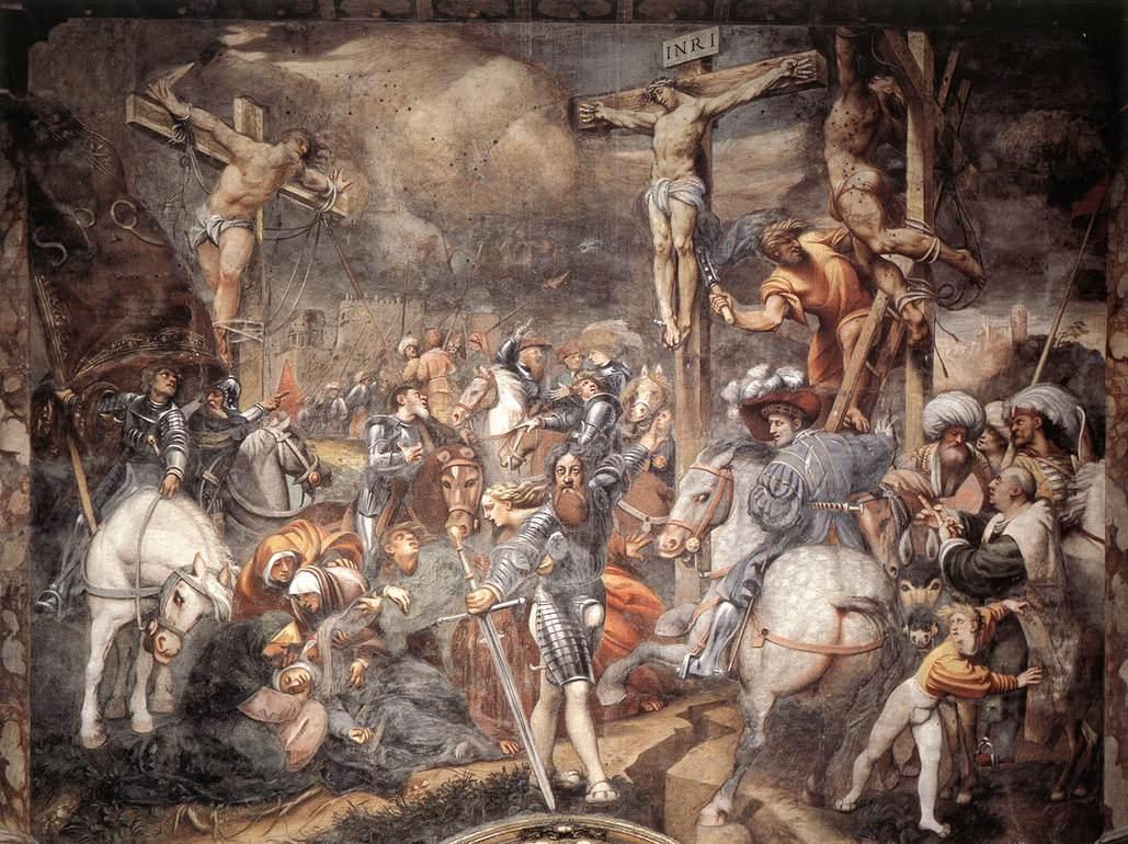 Giovanni Antonio de' Sacchis detto il Pordenone, Crocefissione (1520-1521; affresco, 920 x 1200 cm; Cremona, Duomo)