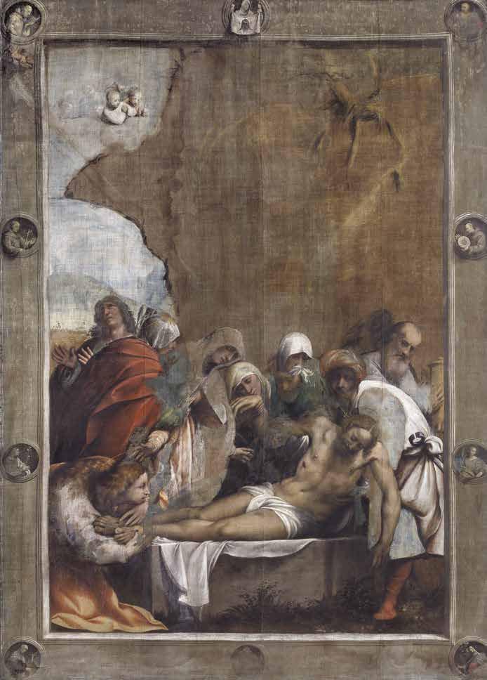 Giovanni Antonio de' Sacchis detto il Pordenone, Deposizione di Cristo (1524 circa; tempera su tela, 397 x 291 cm; Cortemaggiore, chiesa dell'Annunziata)