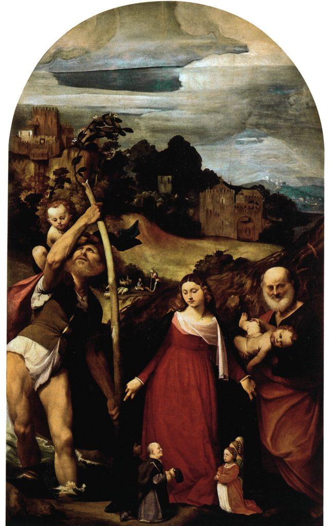 Giovanni Antonio de' Sacchis detto il Pordenone, Madonna della Misericordia (1515-1516; olio su tela, 291 x 146 cm; Pordenone, Duomo concattedrale di San Marco)