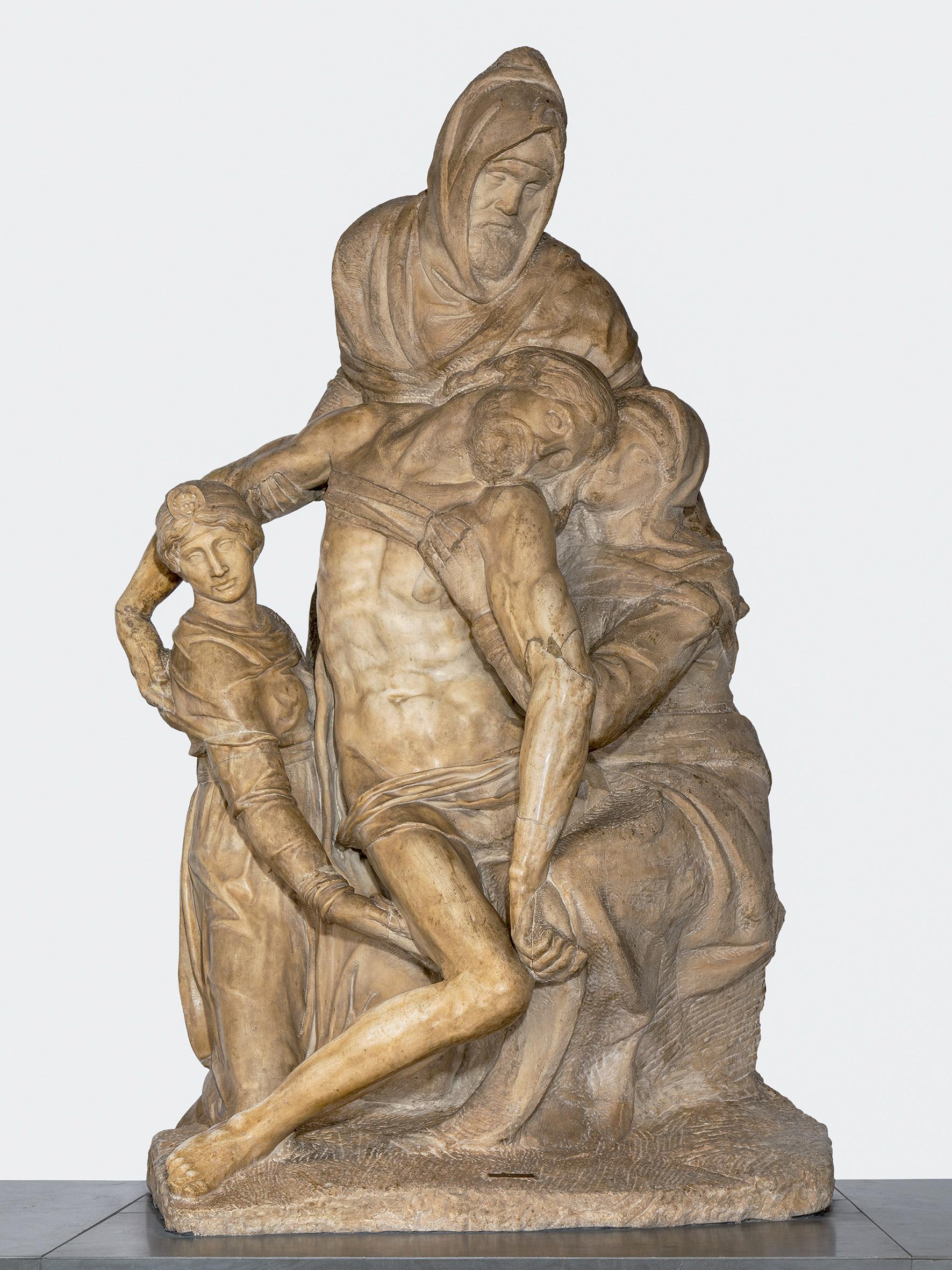 Michelangelo, Pietà Bandini (1547-1555 circa; marmo di Carrara, altezza 226 cm; Firenze, Museo dell'Opera del Duomo). Ph. Credit Alena Fialová
