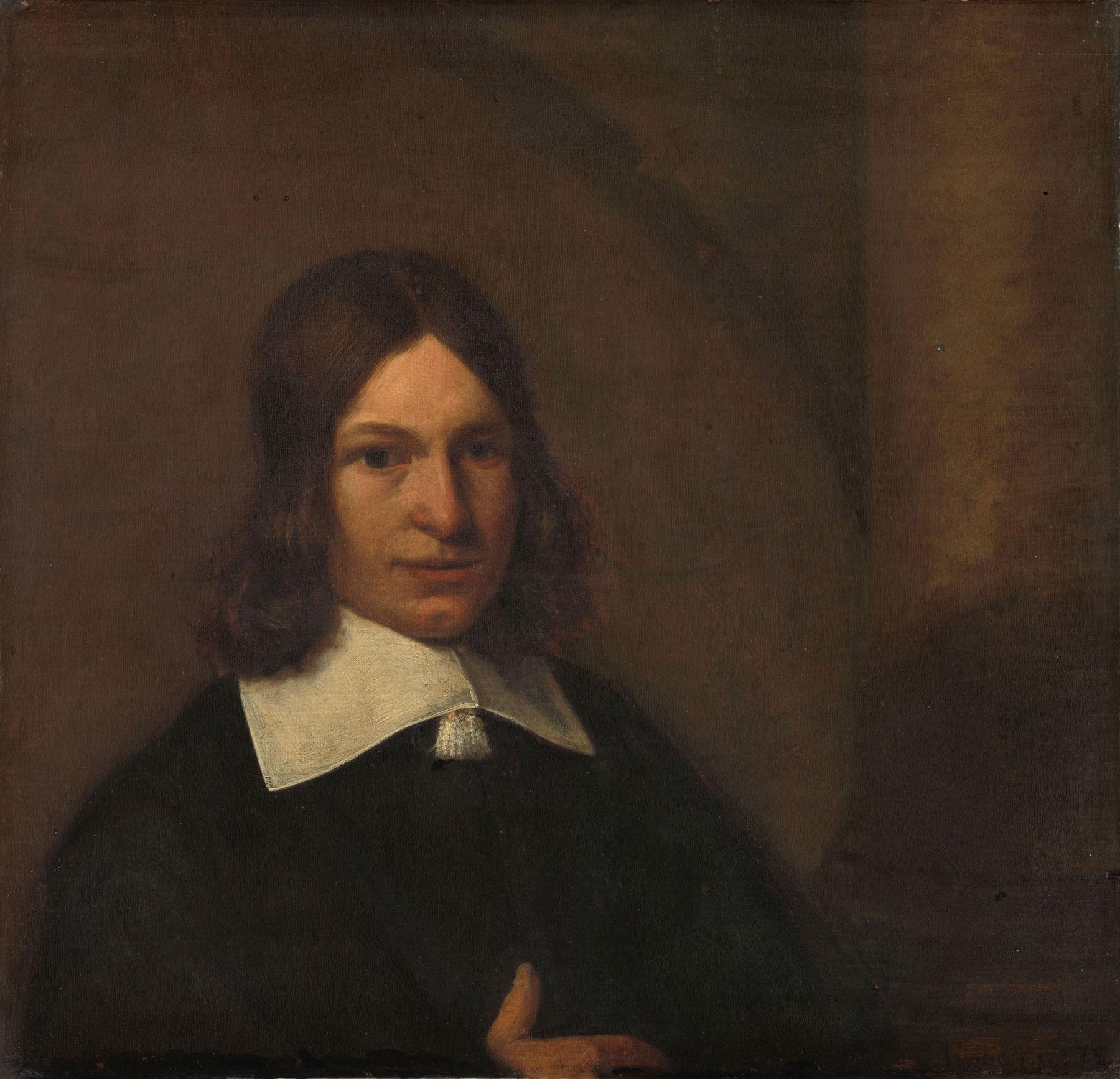 Pieter de Hooch (attribuito), Autoritratto? (1648-1649; olio su tavola, 32,5 x 34 cm; Amsterdam, Rijksmuseum)