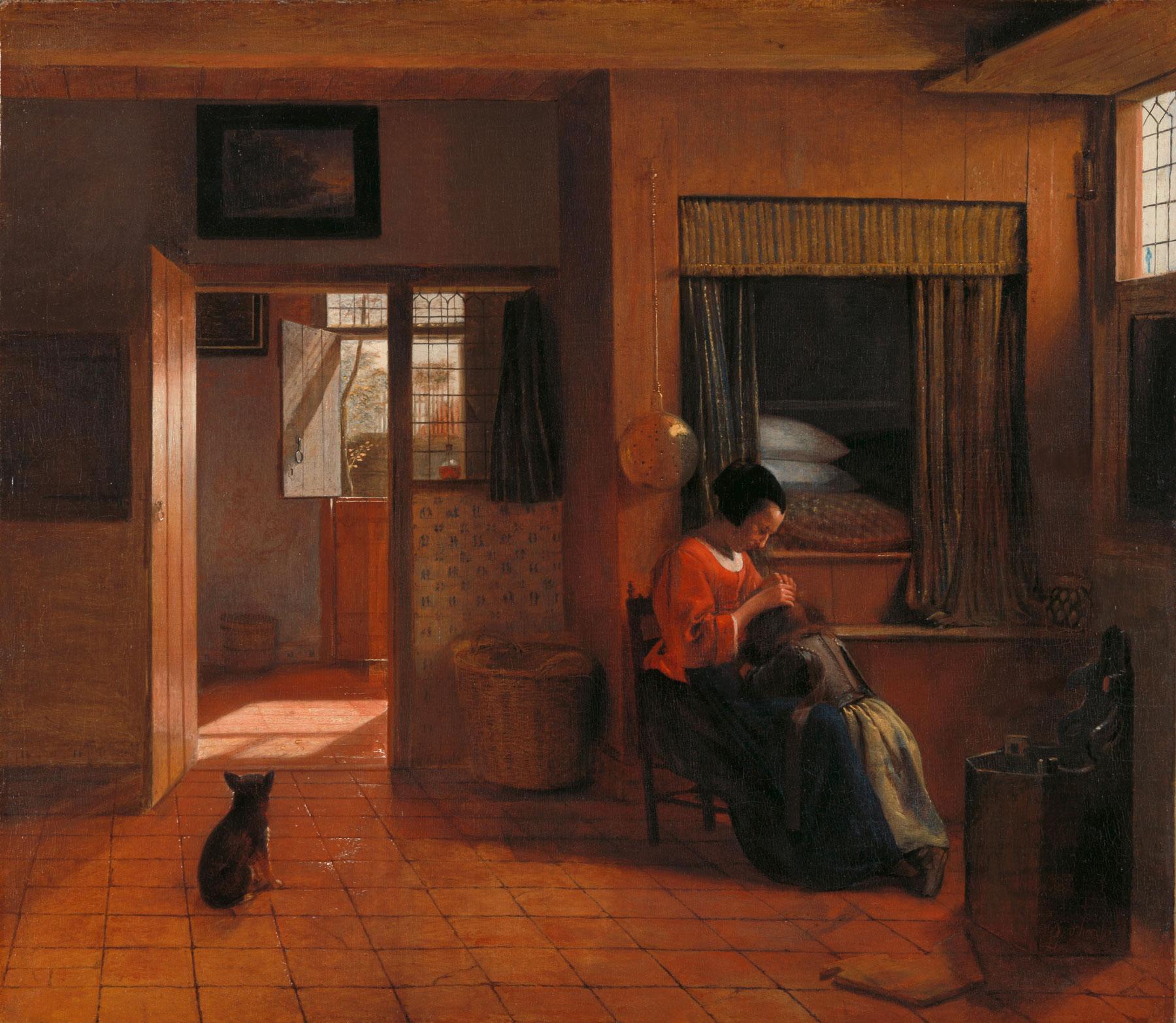 Pieter de Hooch, Il dovere di una madre (1658-1660 circa; olio su tavola, 52,5 x 61 cm; Amsterdam, Rijksmuseum)