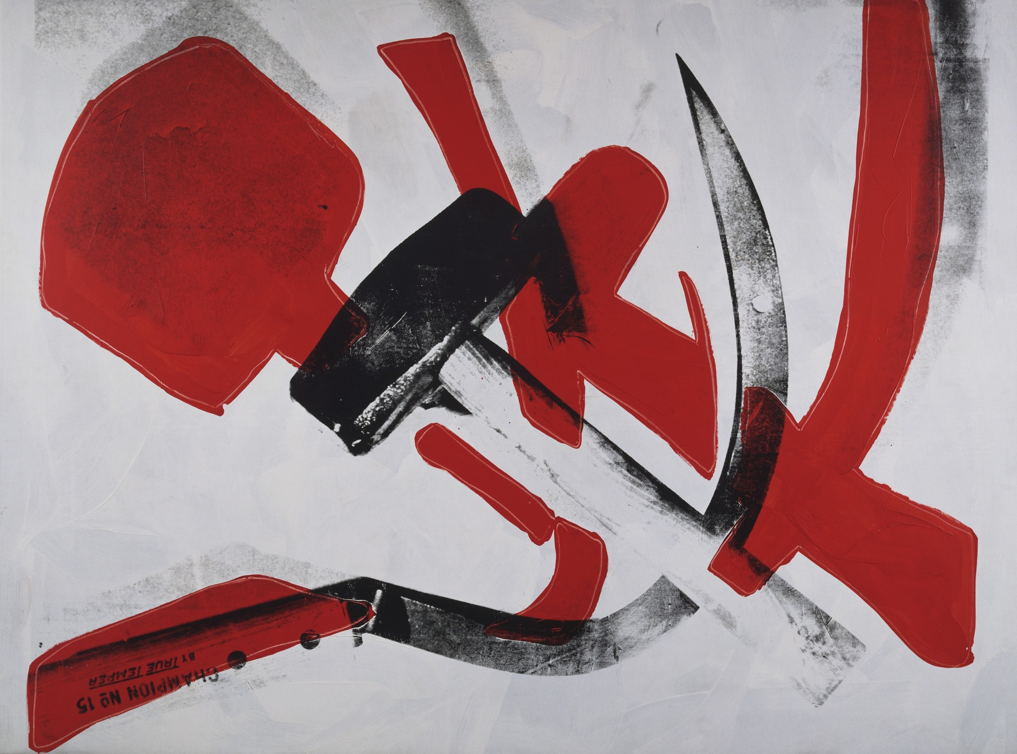 Andy Warhol, Hammer and Sickle (1976; New York, MoMA)