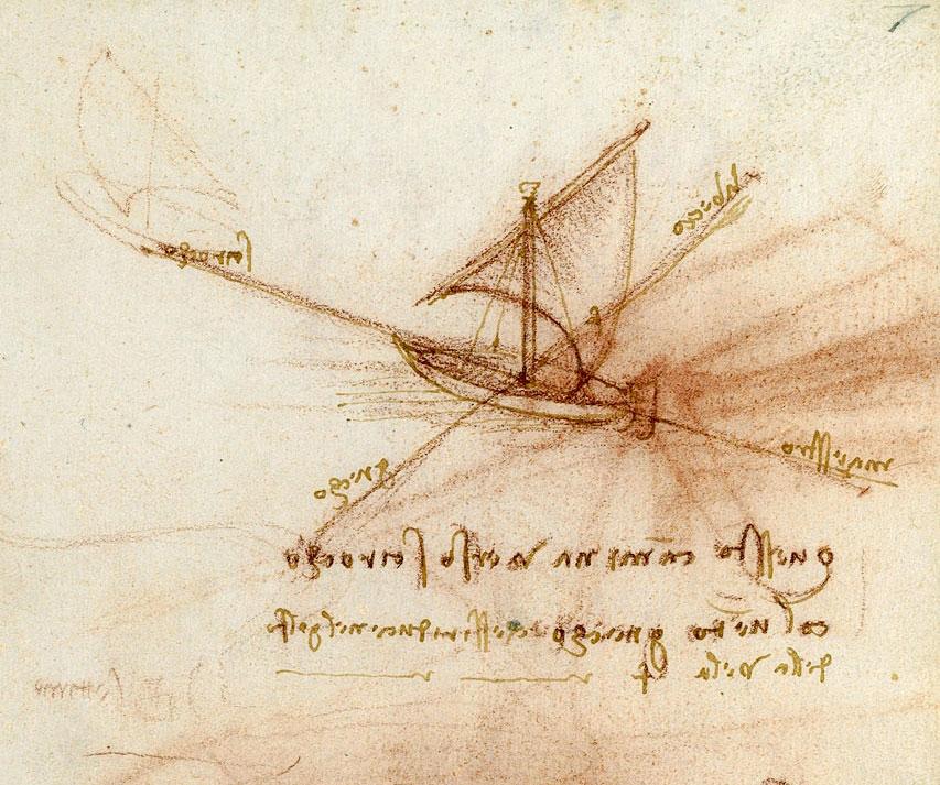 Gli studi navali di Leonardo in mostra a Cesenatico
