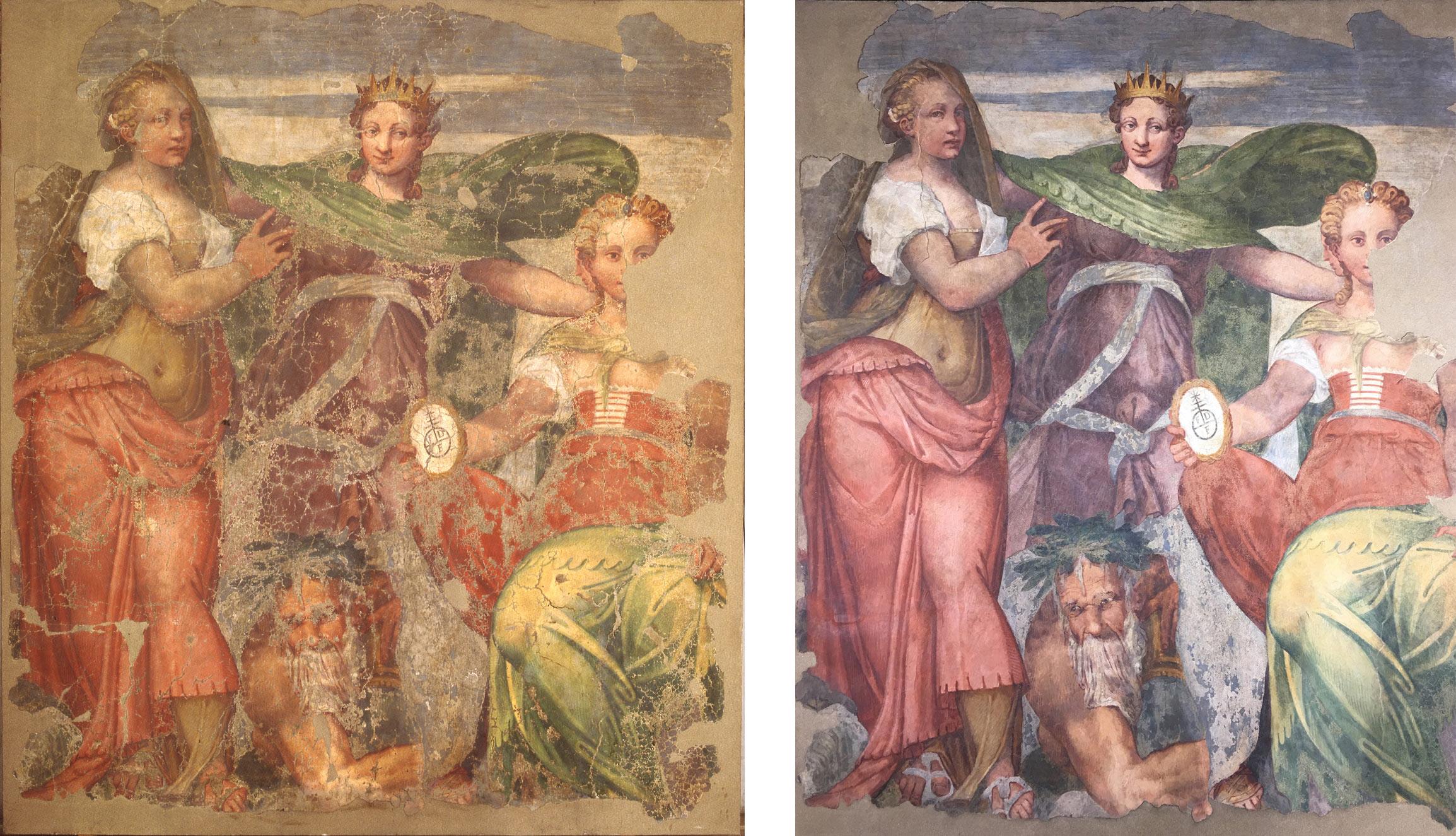Verona, terminato il restauro delle Allegorie di Bernardino India alla Tomba di Giulietta