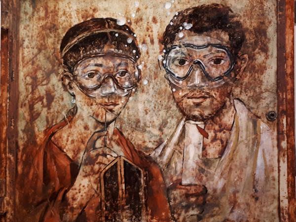 """Street art, acqua e archeologia. Blub è protagonista al MANN di Napoli con """"L'arte sa nuotare"""""""