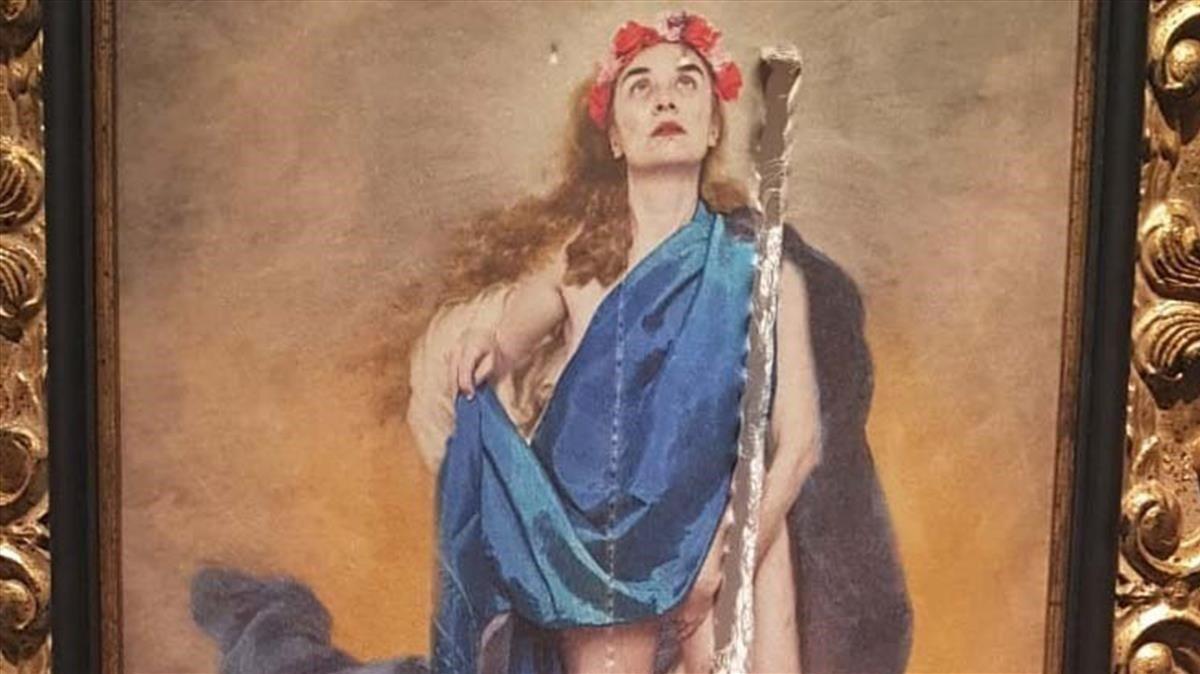 Spagna, vandalizzata opera con la Madonna seminuda. I partiti di destra ne chiedevano il ritiro