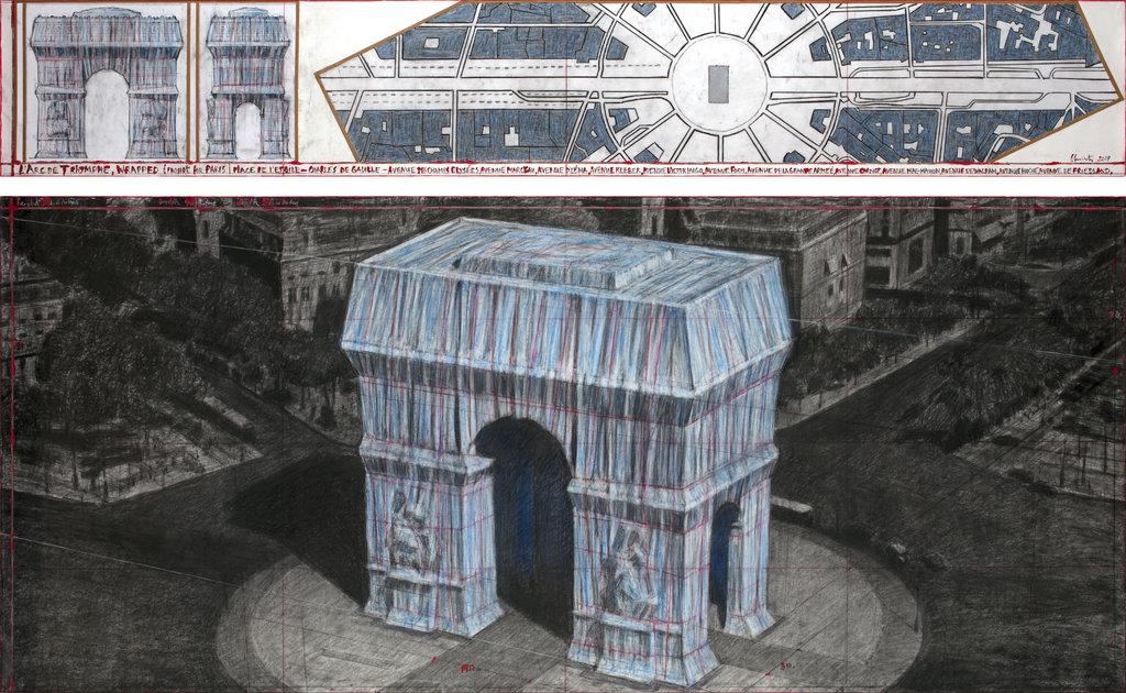 Christo torna a impacchettare: nel 2020 coprirà l'Arco di Trionfo a Parigi
