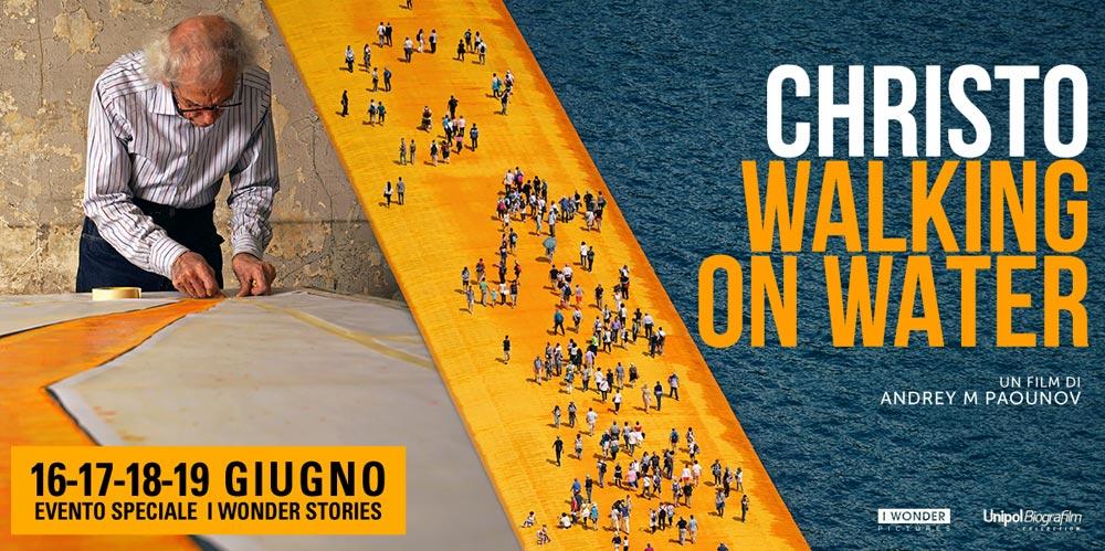 I pontili galleggianti di Christo sul Lago d'Iseo sbarcano al cinema. Walking on the water nelle sale a giugno