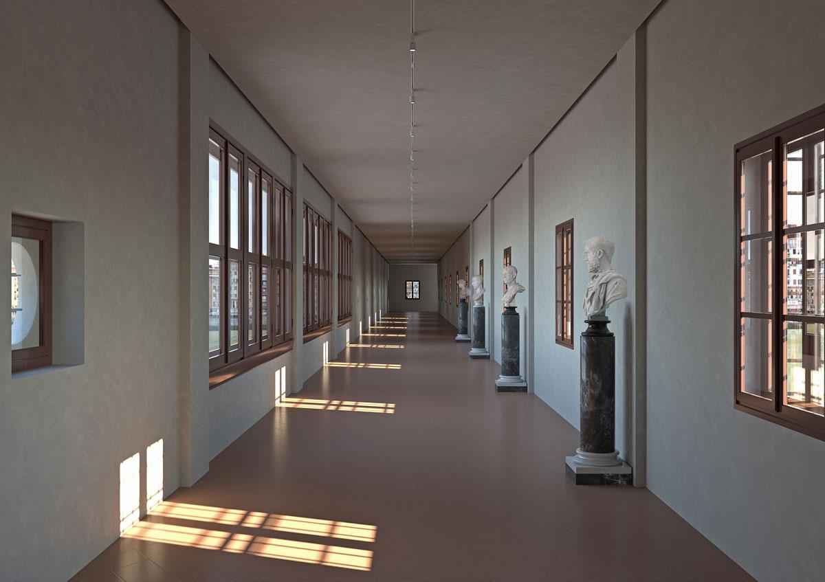 Firenze, riaprirà a breve il Corridoio Vasariano. Verranno tolti i ritratti e sarà visitabile su prenotazione