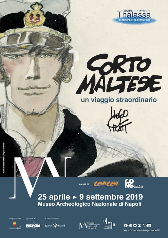 Al MANN di Napoli, Corto Maltese ed il suo autore, Hugo Pratt, omaggiati in una mostra