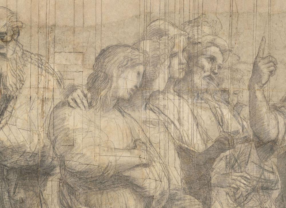 Milano, termina il restauro del cartone della Scuola di Atene di Raffaello. Per l'opera adesso una mostra dedicata