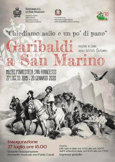 """Quando Garibaldi """"scampò"""" a San Marino. Una mostra nella Repubblica del Titano"""