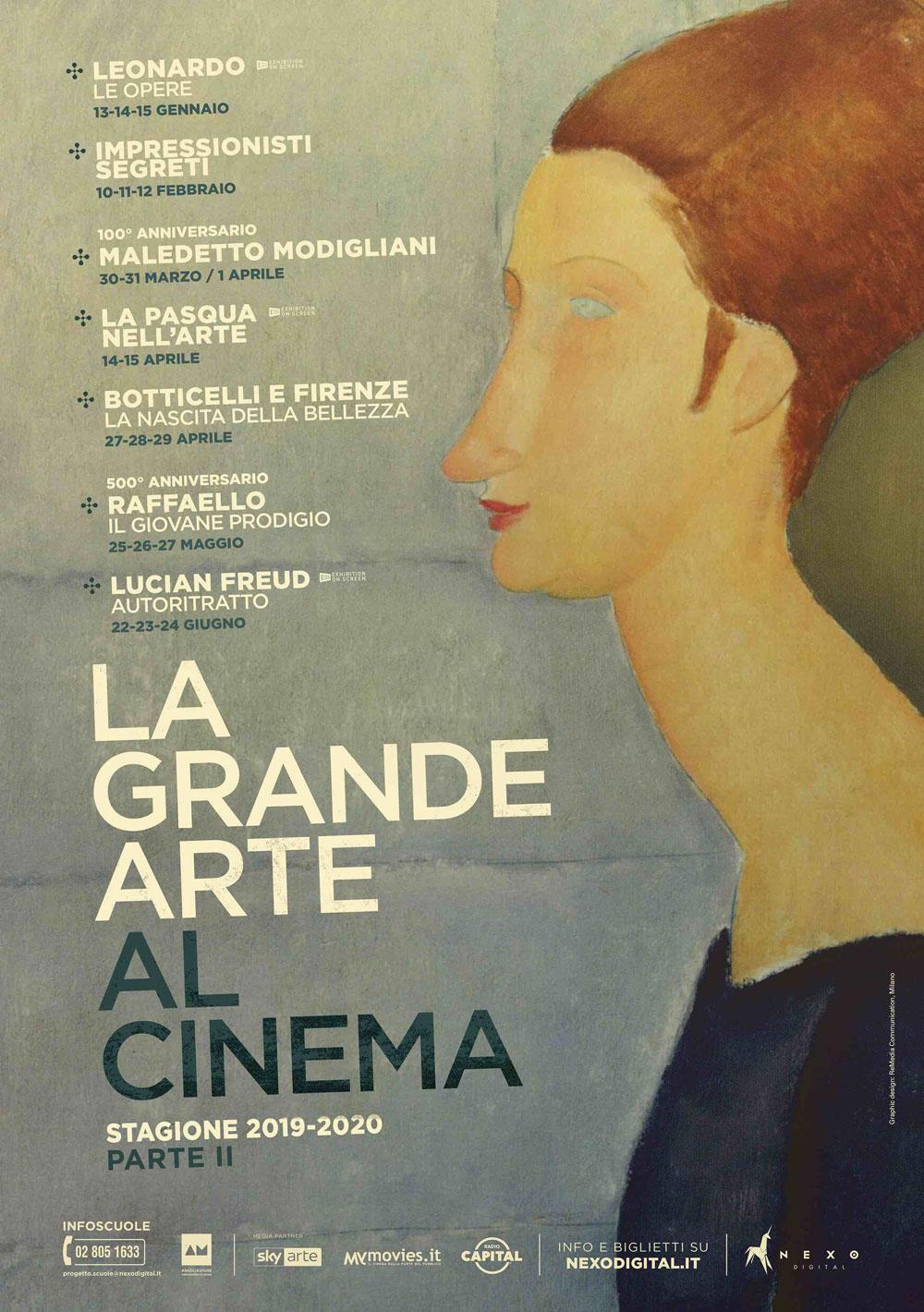 Presentata la stagione 2020 de La Grande Arte al Cinema: da Leonardo agli impressionisti, da Botticelli a Raffaello a Lucian Freud