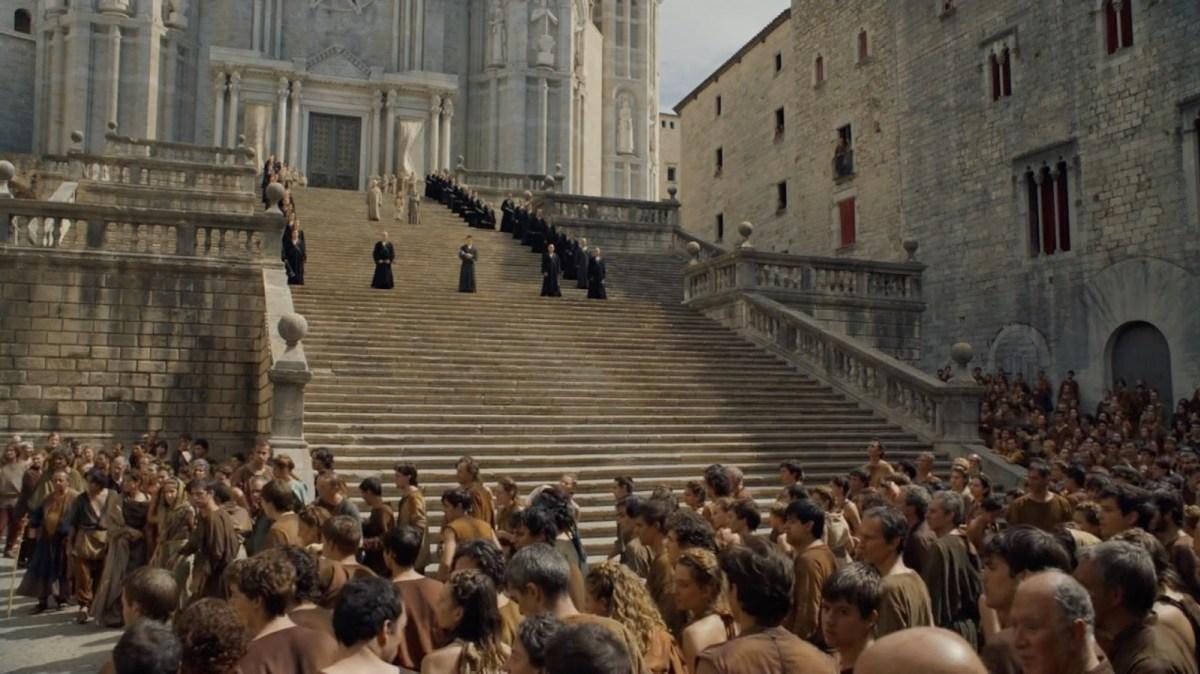 La scalinata del grande tempio di Baelor