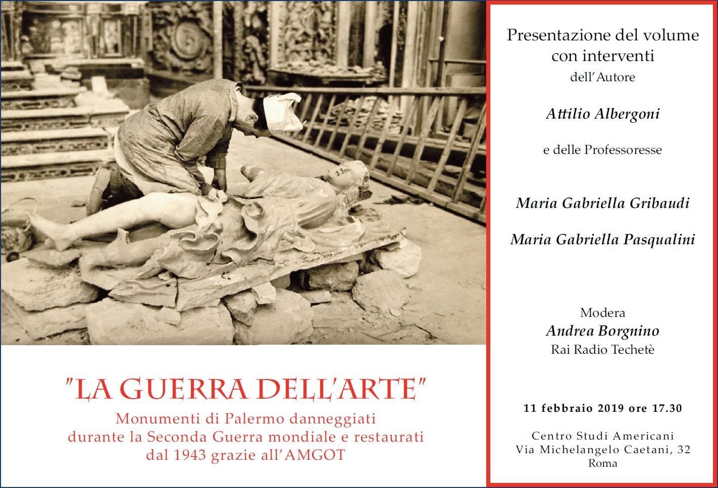La Guerra dell'Arte, a Roma la presentazione del volume