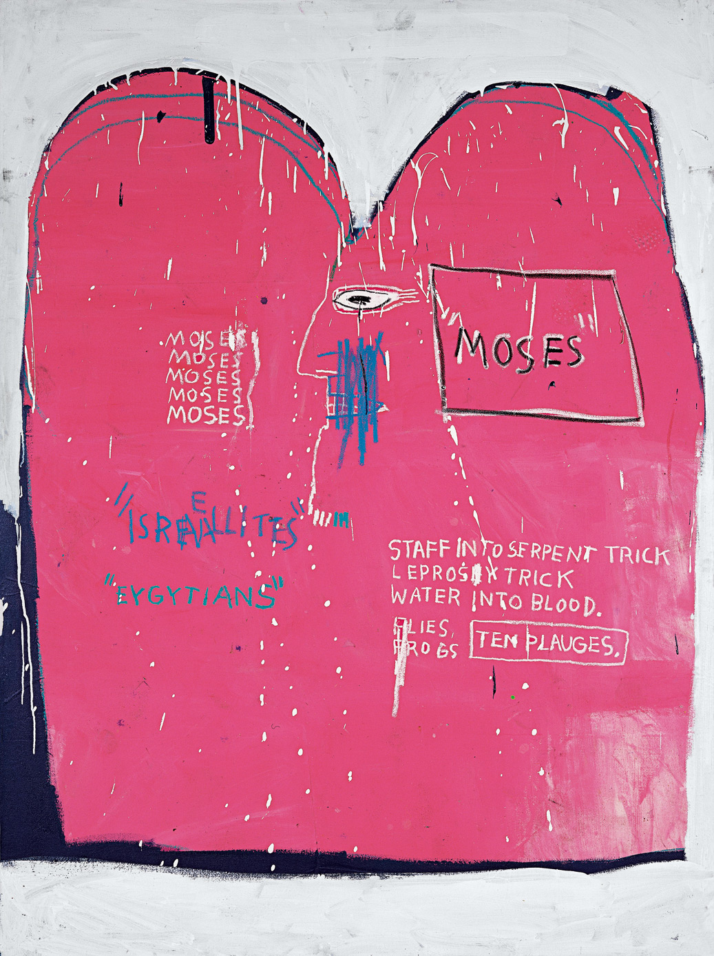 "Un'opera di Basquiat arriva a Vicenza. ""Moses and the Egyptians"" in prestito alle Gallerie d'Italia di Palazzo Leoni Montanari"