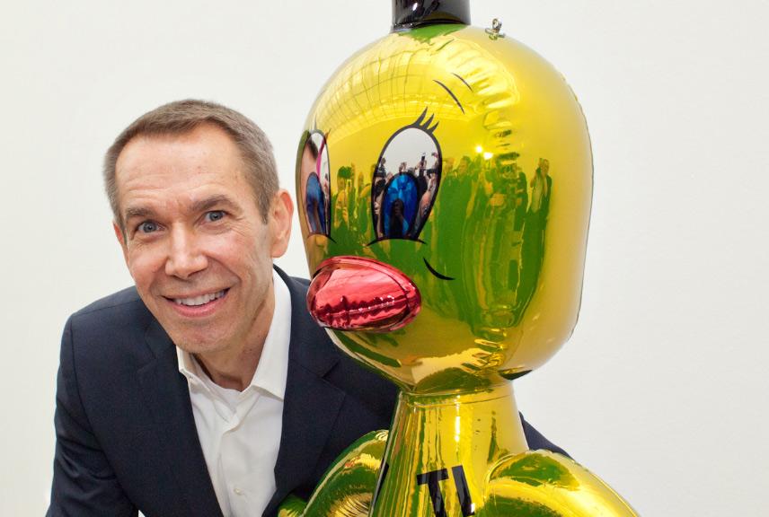 Jeff Koons diventerà Accademico d'Onore in Scultura dell'Accademia di Belle Arti di Carrara
