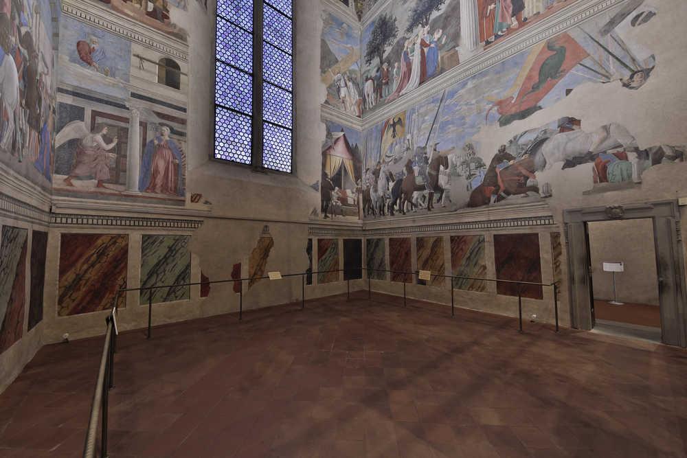 Arezzo, nuova illuminazione per il capolavoro di Piero della Francesca, la Leggenda della Vera Croce