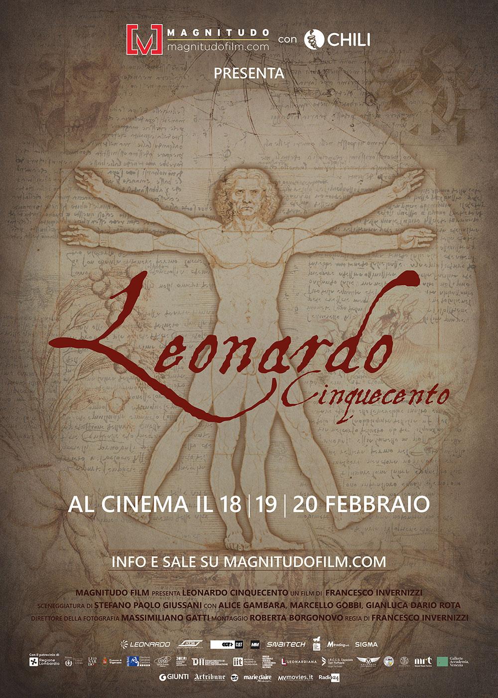 L'arte al cinema celebra Leonardo da Vinci