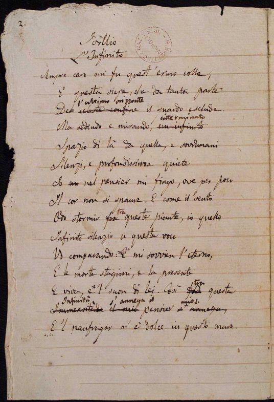 Una biblioteca digitale per i manoscritti autografi di Giacomo Leopardi