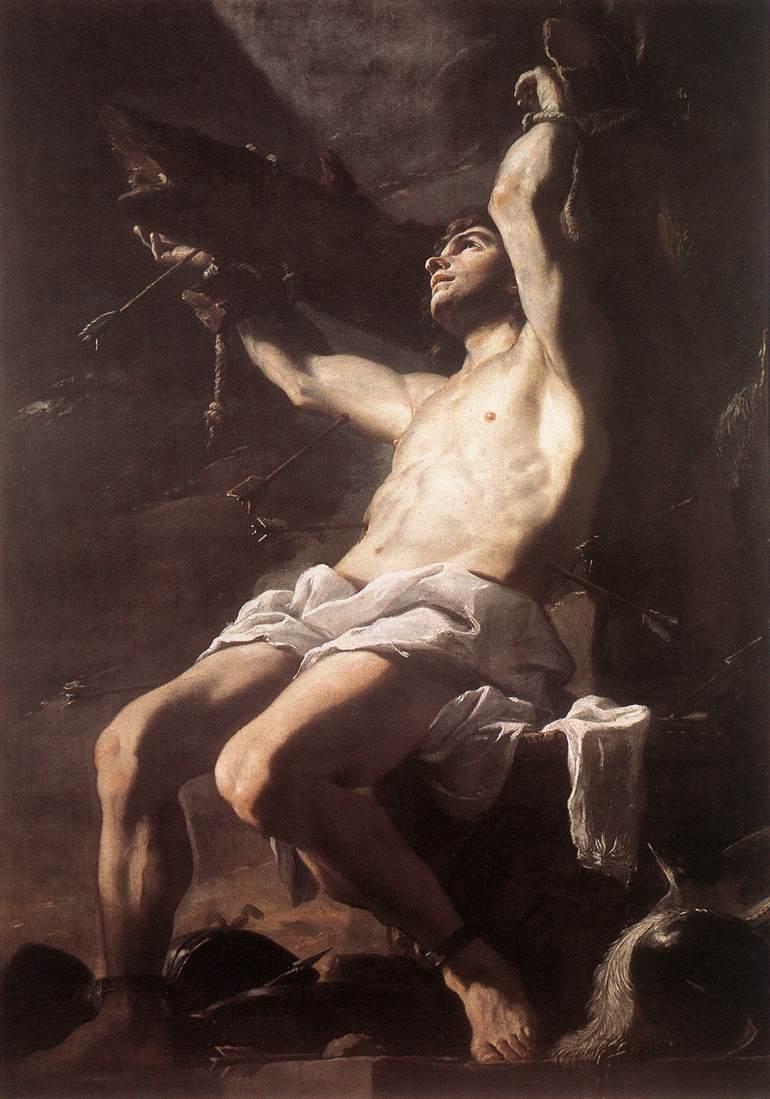 Mattia Preti, Martirio di san Sebastiano (1657 circa; olio su tela, 240 x 169 cm; Napoli, Museo Nazionale di Capodimonte)