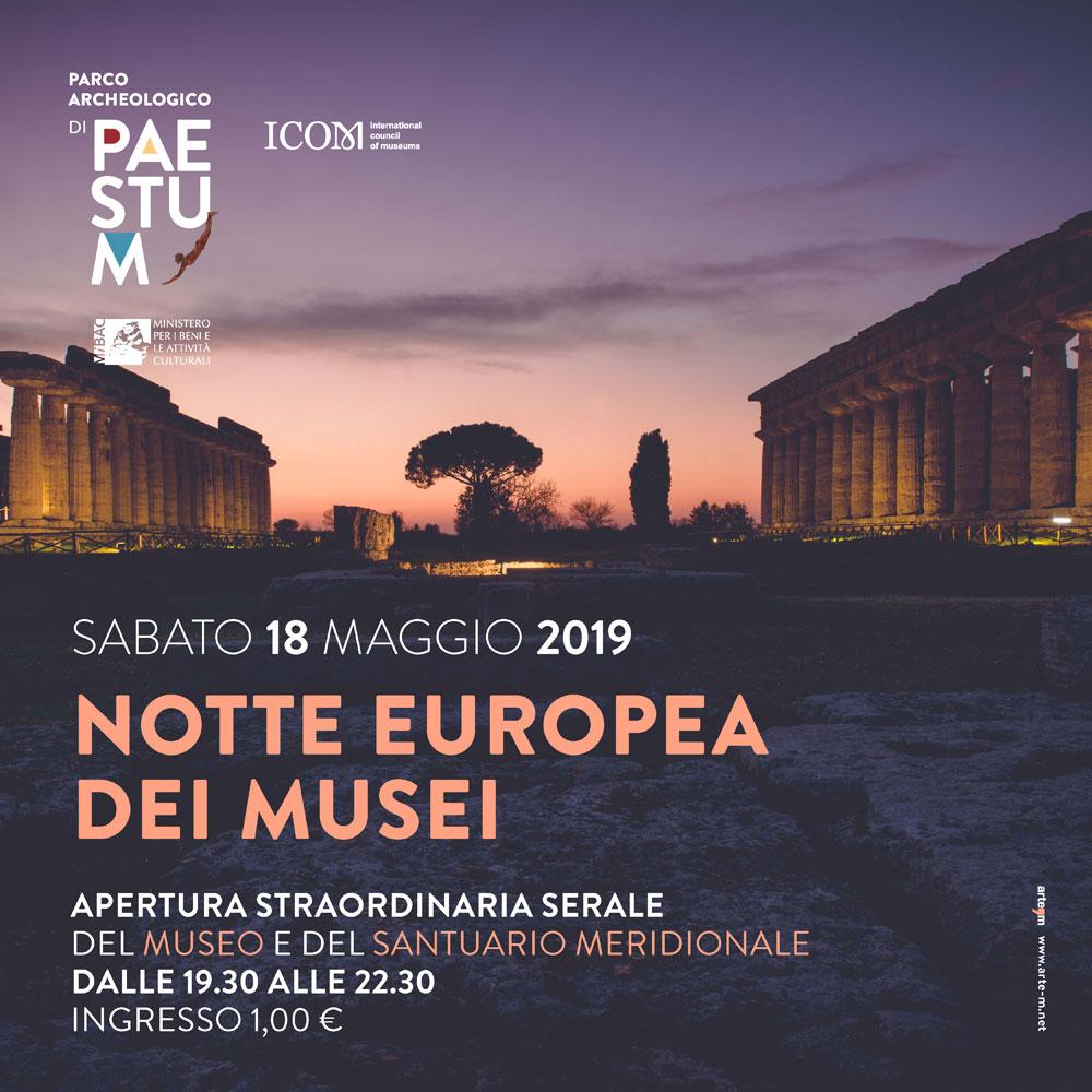 Notte Europea dei Musei al Parco Archeologico di Paestum. Le iniziative.