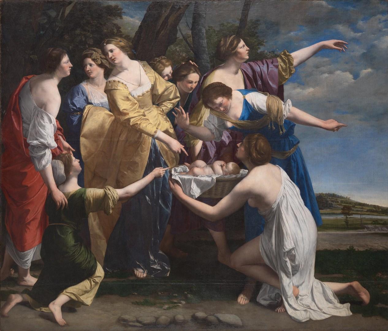 """La National Gallery di Londra acquista un capolavoro di Orazio Gentileschi, il """"Ritrovamento di Mosè"""""""