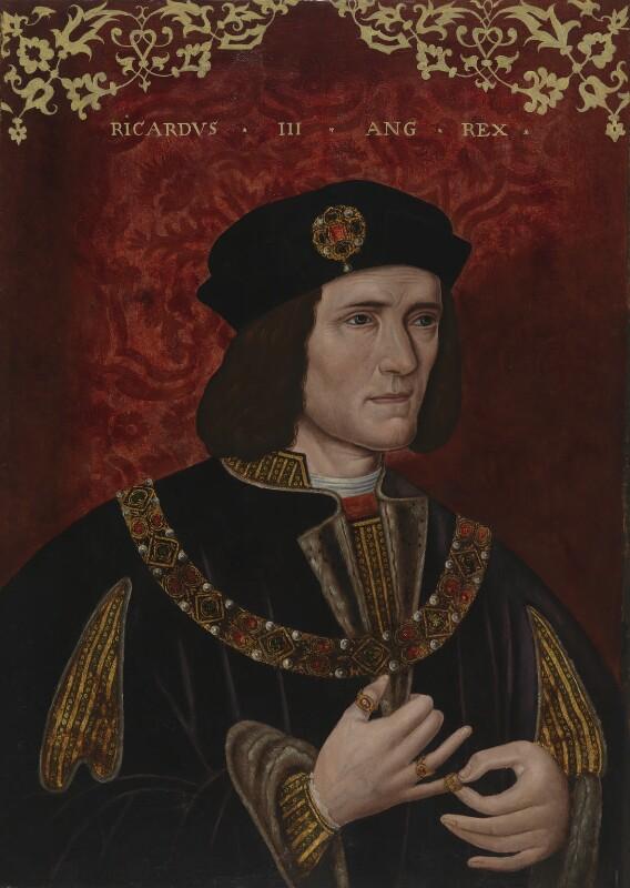 Artista ignoto, Ritratto di Riccardo III d'Inghilterra (fine del XVI secolo; olio su tavola, 63,8 x 47 cm; Londra, National Portrait Gallery)
